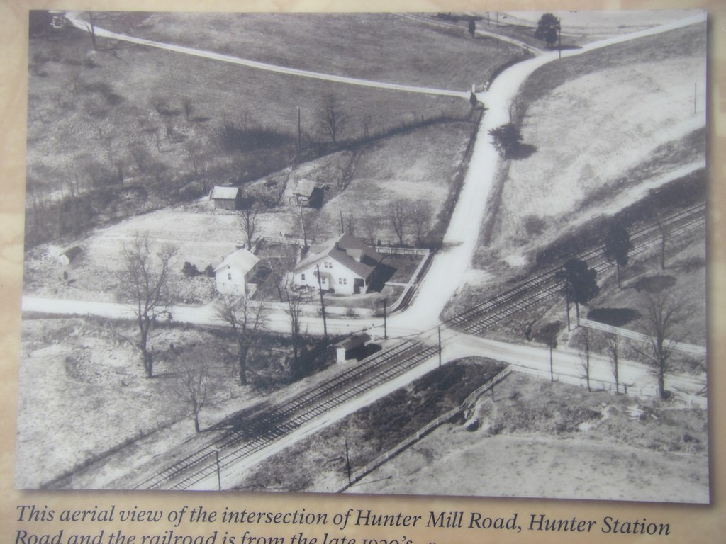 Historic photo of Hunter Mill Road