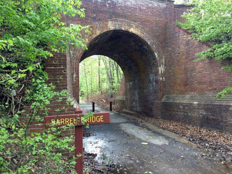 Historic Barrel Bridge on Fairfax Cross County Trail segment 0