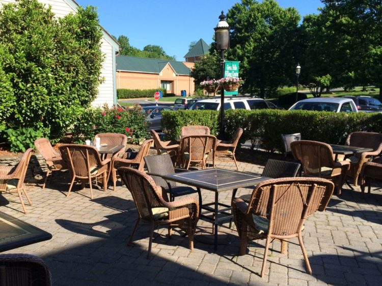 Old Brogue restaurant patio in Great Falls Virgiina