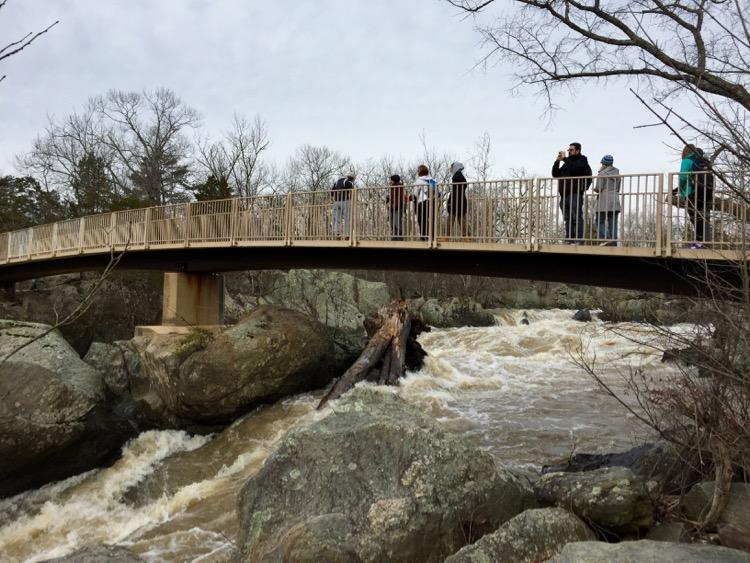Olmstead Island bridge Great Falls Maryland