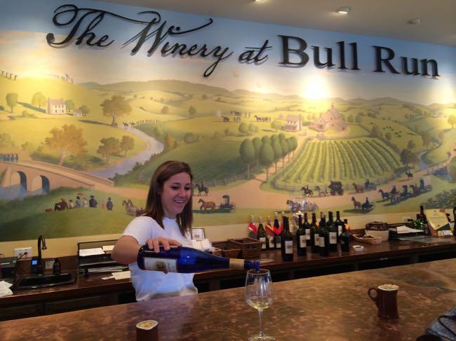 The Winery at Bull Run tasting bar