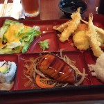 Ariake Reston shrimp vegetable tempura bento