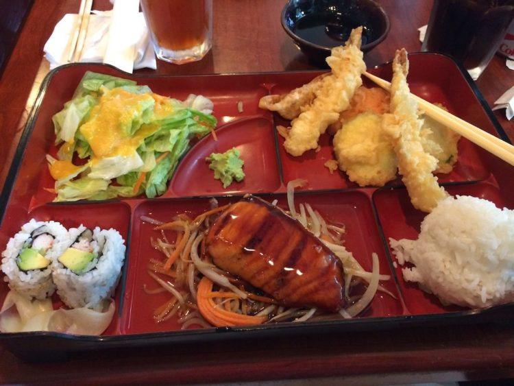 Ariake Reston shrimp vegetable tempura bento