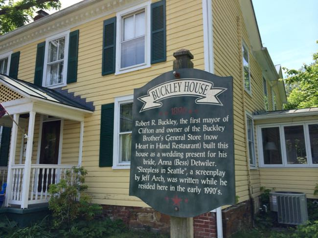 The historic Buckley House in Clifton Virginia