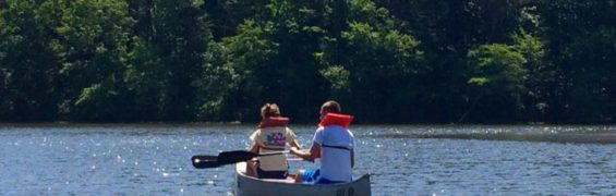 Canoeing on Burke Lake