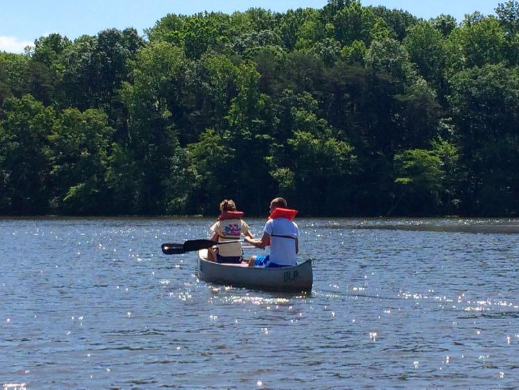 Canoeing on Burke Lake