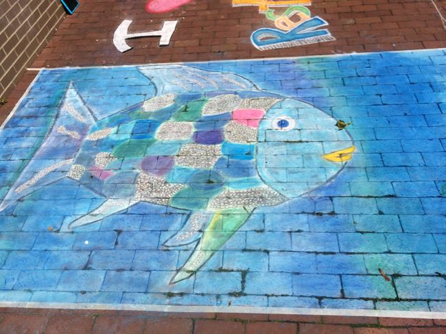 chalk fish at Chalk on the Water