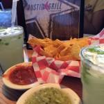 Margaritas, chips and salsa at Austin Grill
