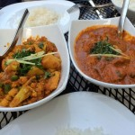 Phool Gobi and Chicken Vindaloo
