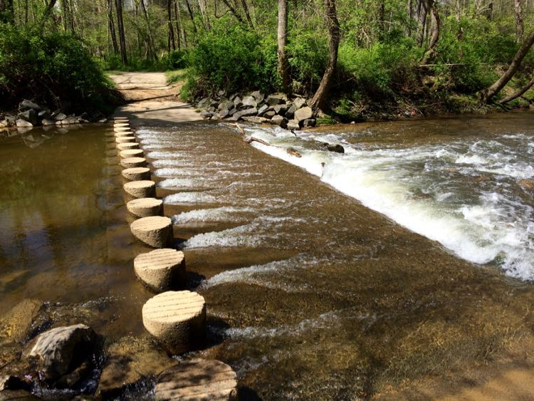 Stream crossing on Fairfax CCT segment 9