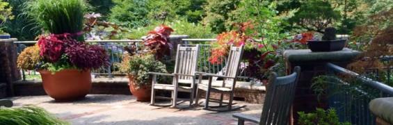 Meadowlark Botanical Garden rockers