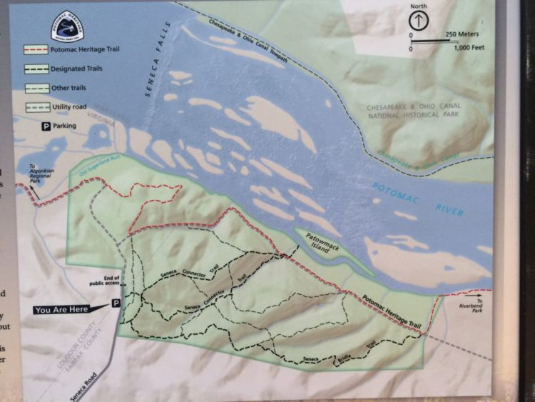 Trail Map for Seneca Park in Great Falls VA