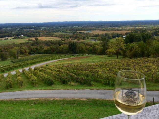 Bluemont Vineyards view