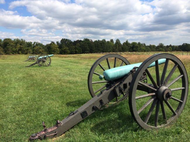 Cannons on the Manassas Battlefield