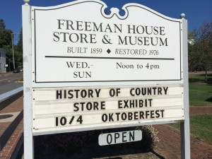 Freeman House sign