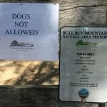 No dogs Bull Run Mtn