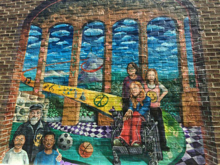 Outdoor mural Hunters Woods Elementary School Reston VA