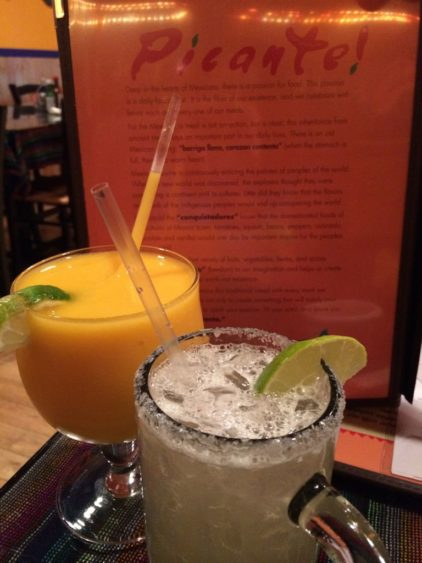Mango and traditional margaritas at Picante! in Chantilly VA