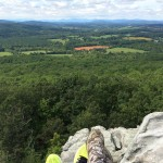 Shoes and views Bull Run Mtn