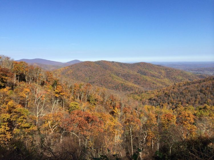 View east from Hazel Mountain Overlook, Shenandoah National Park