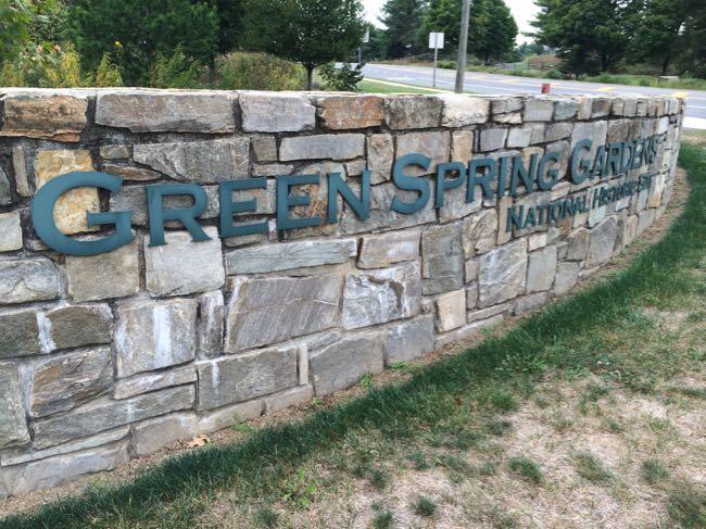 Green Spring Gardens entryway