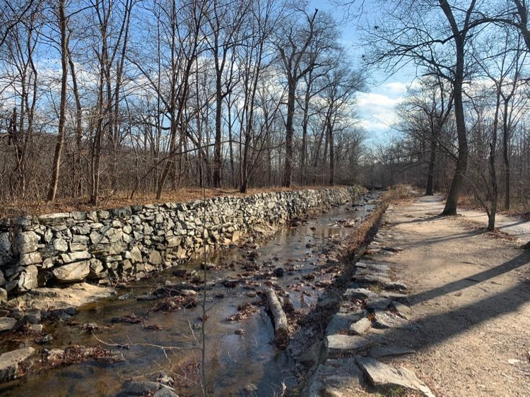 Historic Patowmack canal in Great Falls Park Virginia