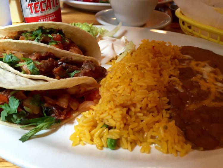 Taco platter at Los Tios Grill