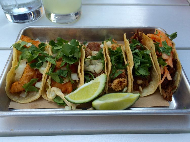 Taco selection at bartaco in Reston Virginia