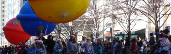 Thanksgiving parade at Reston Town Center