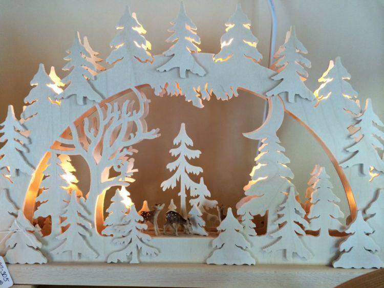 carved winter scene