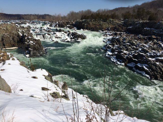 Great Falls Park in winter