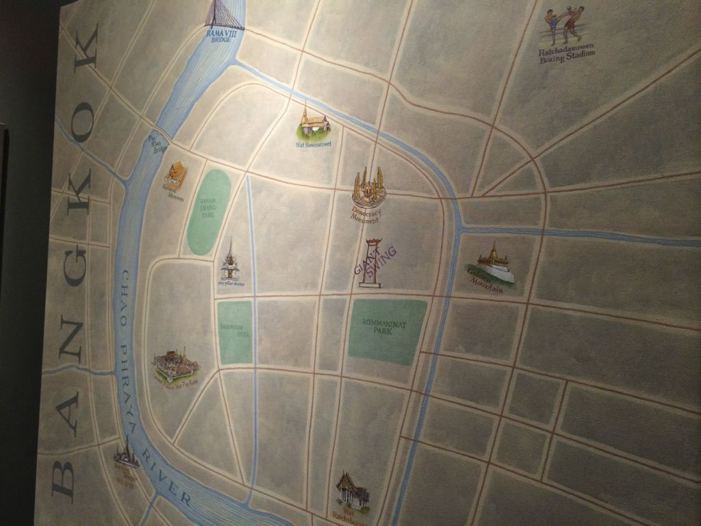 La Ong Thai map