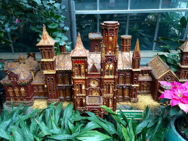 Smithsonian Castle model, US Botanic Garden