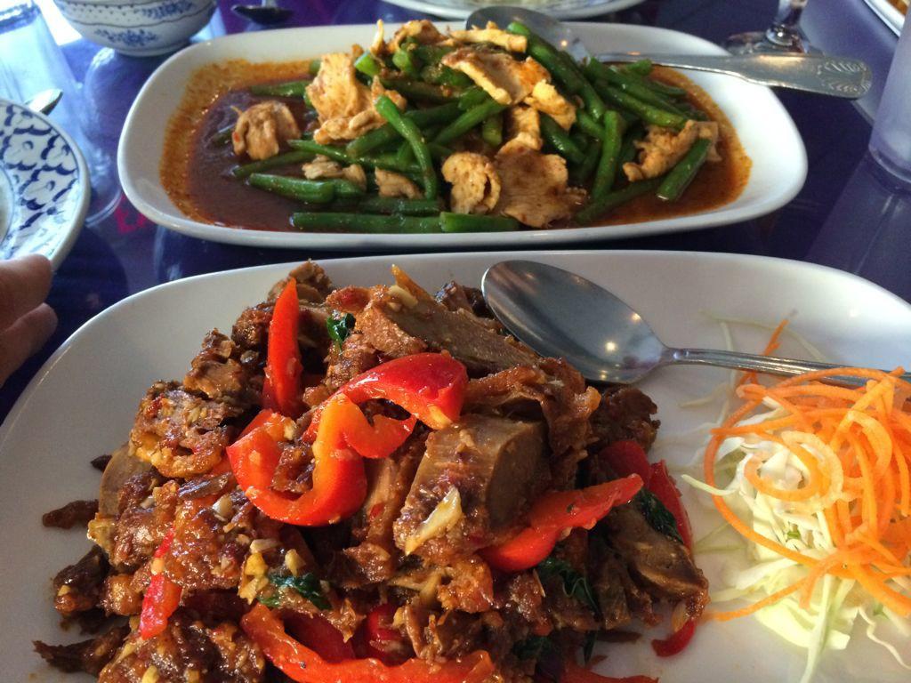 Crispy Duck and Pad Prik King at Thai Luang