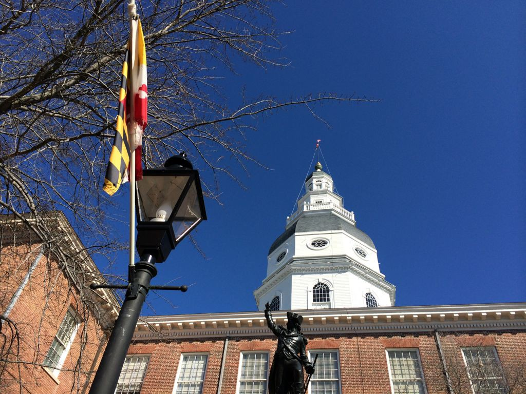 Maryland State House in Annapolis Maryland