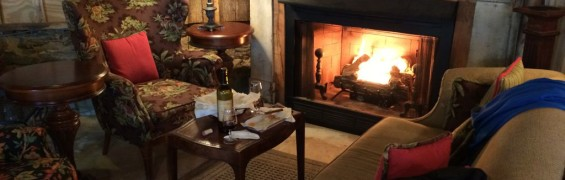 Aspen Dale Winery fireplace in Loudoun County VA