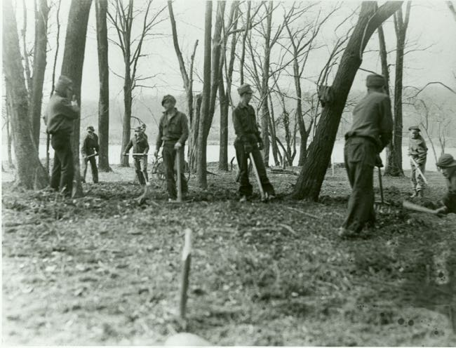 CCC clearing Roosevelt Island (photo: NPS website)