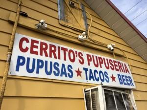 Cerritos Pupuseria sign