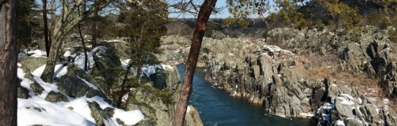 Mather Gorge in winter, Great Falls Park