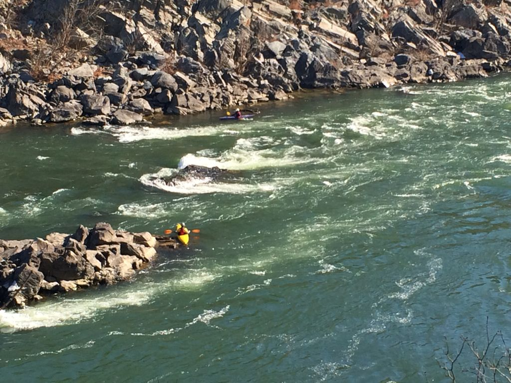 Kayakers in Mather Gorge