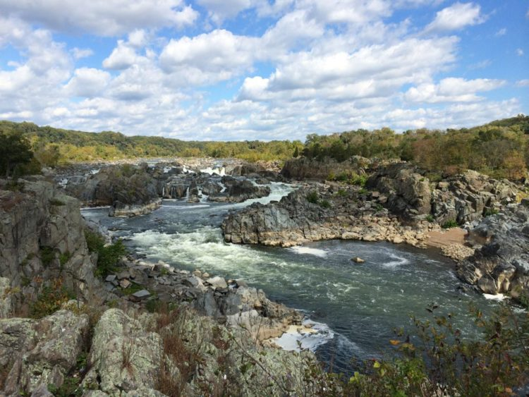 Great Falls Park waterfalls from Overlook 3 Virginia side in October 2014