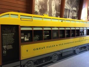Great Falls trolley display