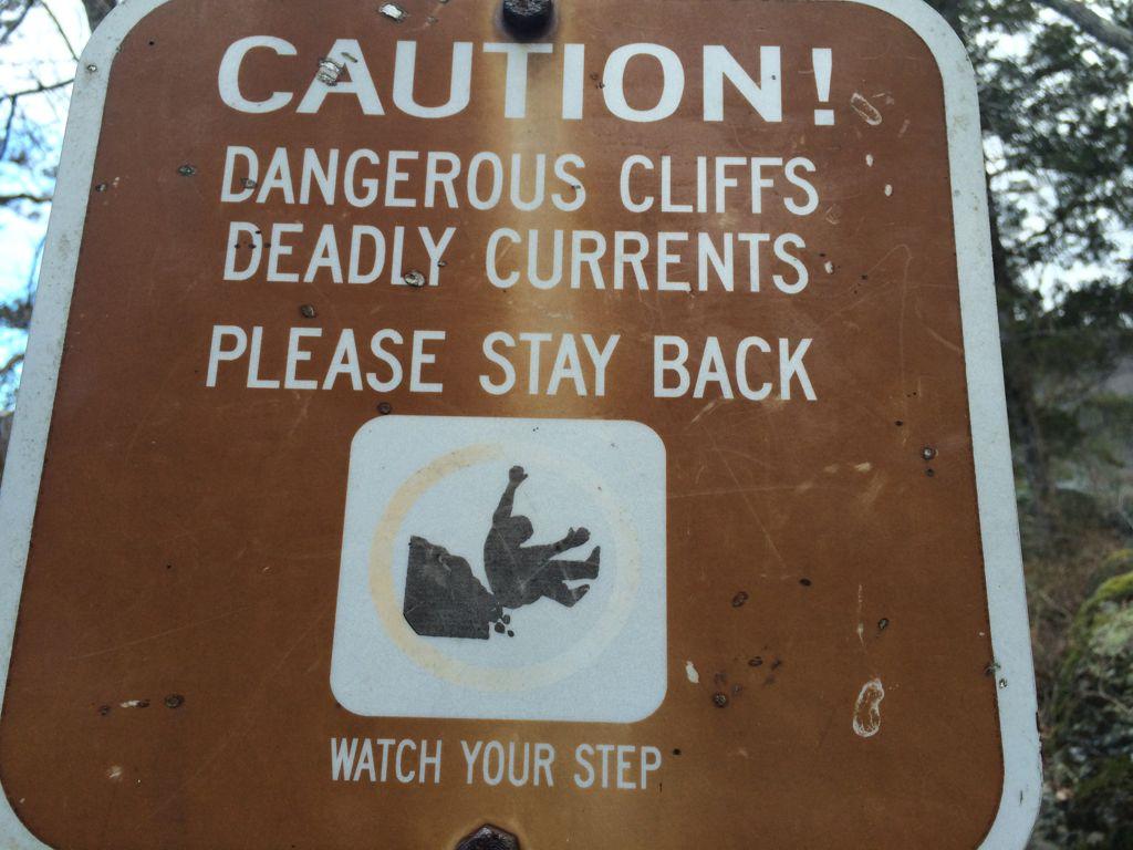 Great Falls warning sign