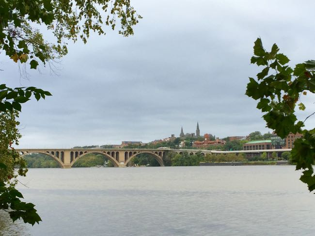 Georgetown from Roosevelt Island