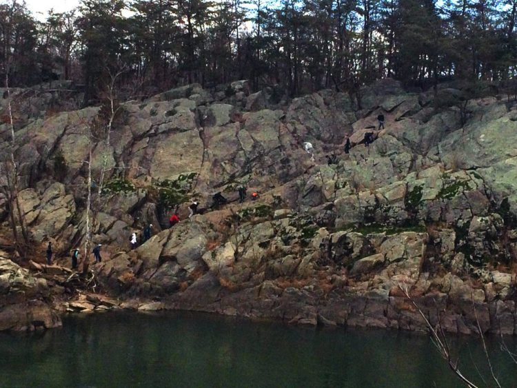 Maryland's Billy Goat Trail seen from Great Falls Park Virginia