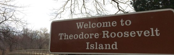 Teddy Roosevelt Island sign