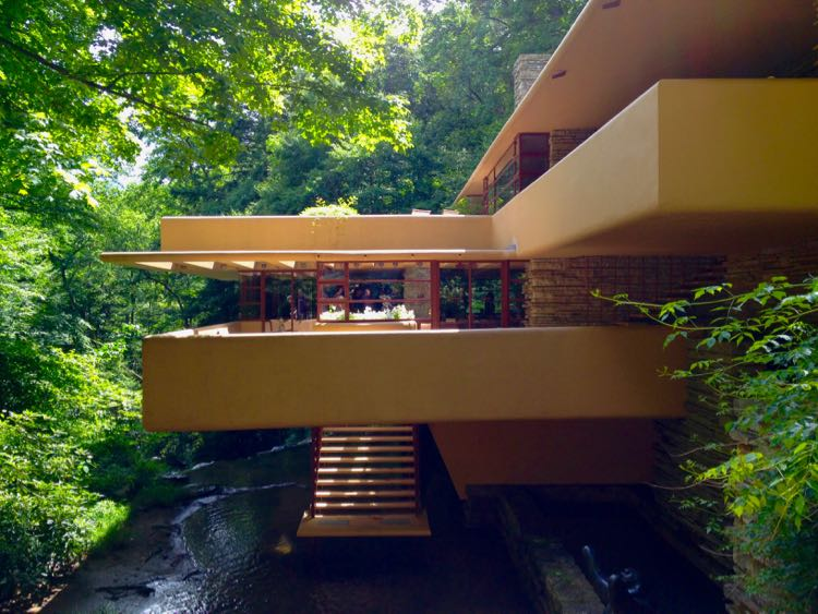 Above the stream at Fallingwater, Laurel Highlands PA