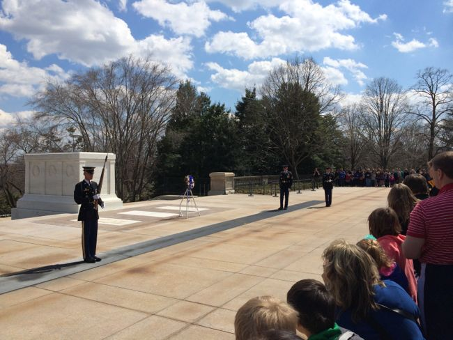 Changing guard Arlington Tomb of the Unknown