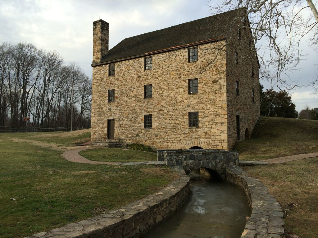 Washingtons Gristmill in Mount Vernon Virginia