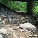Erosion under Georgetown Pike Difficult Run